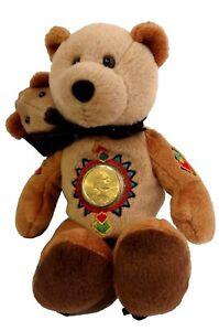 "Limited Treasures SACAGAWEA COIN 2002 Plush Bear 8"""