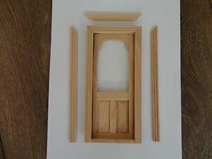 DOLLS HOUSE 1/12 SCALE ARCH TOP 2 PANEL WOODEN DOOR - 5218R