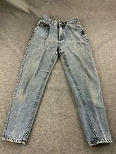 Vtg Lee Riders Women Size 6 Petite Black Acid Washed Denim Jeans Union Made