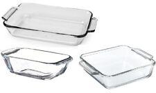 Anchor Hocking Set of 3 Glass Oven Roasting Loaf Dish Tray Set Baking Dish