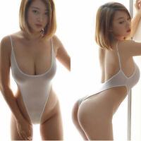 Bodysuit Lingerie Perspective Sheer  Thong Leotard Mesh Women's Suit See-through
