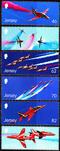 Jersey 2014 Anniv Royal Air Force Aerobatic Team, The Red Arrows, Set of Stamps