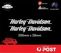 HARLEY DAVIDSON DECAL - VINTAGE, CHOPPER, MAN CAVE - BLACK or COLOURS x 2