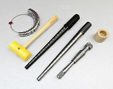 JEWELRY TOOLS 5Pc MANDREL RING STICK RINGSIZER RATHBURN STRETCHER PLASTIC MALLET