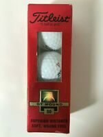 Vintage Titleist DT Wound 90 Golf Balls, Conseco Logo, One Sleeve of 3, NOS