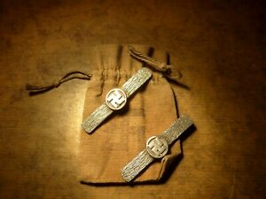 JAPANESE SWASTIKA MON HERALDIC MENUKI for SAMURAI sword HACHISUKA / YOSHISHIGE