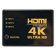 3 Port HDMI Switch Box Splitter 3D 1080P Remote Control Selector Hub Adapter