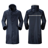 Casual Men's Waterproof Raincoat Lightweight Hooded Rain Coat Long Jacket Coat r