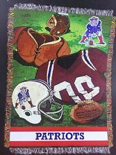 NFL New England Patriots Vintage Series Woven Tapestry Throw 48 x 60 Brand New