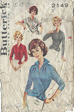"1950s Vintage Sewing Pattern B36"" WRAP-AROUND BLOUSE (R703)"