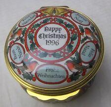 Halcyon Days Enamels Christmas 1996 Box New