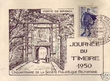 012+ FDC CARTE 1er  JOURNEE TIMBRE 1950 VIEUX CHARMONT