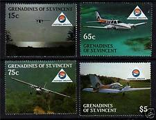 Gren St Vincent 1988 Mustique Airways SG 559/62 MNH