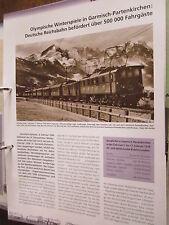 Chronik der Eisenbahn 2: 1936 Olympiade Garmisch Reichsbahn befördert 500 000