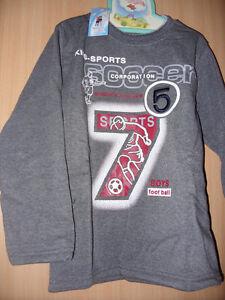 Langarmshirt  Sweatshirt  Gr. 134 - 140    grau mit Motiv   Neu   LS / 32