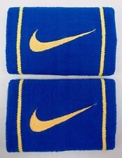 Nike Doublewide Wristbands Dri-Fit Varsity Military Blue/Gold Men's Women's