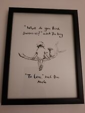 CHARLIE MACKESY FRAMED BOOK EXTRACT.  ' THE BOY,THE MOLE,THE FOX AND THE HORSE.'