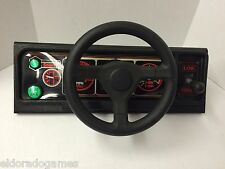 Big Run Upright Driving Game Control Player Panel Assembly USED #2255