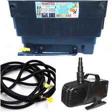 Pond Pump, Tube/Hose & Filter for 4500 Gallon Pond, Water Garden Pond Combo Pack