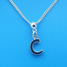 "1 x Silver Plated 18"" Letter C Necklace Alphabet Initial"