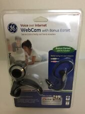 GE Web Cam w Bonus Earset Voice Over Internet Clear Picture And Sound