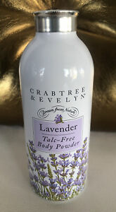 Crabtree & Evelyn 2.6oz Talc-Free Lavender Body Powder Sealed
