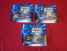 Micro Machines Star Wars Episode 1 Pod Racer Pack I, II & IV Boxed And Sealed