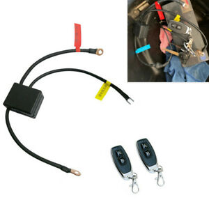 12V Wireless Dual Remote Motorcycle Battery Disconnect Cut Off Master Kill Swith
