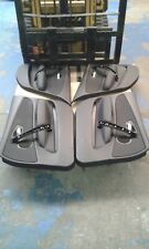 BMW 1 SERIES E87 LCI M SPORT DOOR CARDS TRIM PANELS BLACK HALF LEATHER