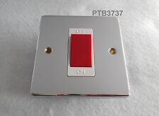 45A DP SWITCH POLISHED CHROME NOT FLAT PLATE COOKER SWITCH SHOWER SWITCH HOB SW.