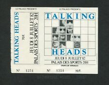 1982 Talking Heads Concert Ticket Stub Montpellier France Remain In Light