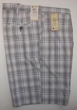 Haggar Mens Grey Plaid Golf Shorts Size 44 Flex Waist NEW $48