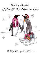 Sister & Brother-In-Law Embellished Christmas Card Joie De Vivre  Greeting Cards