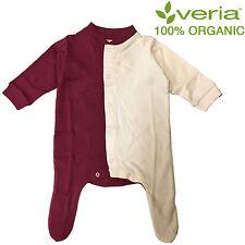 Organic Baby Romper Short Sleeved 6-9 months Burgundy Cream