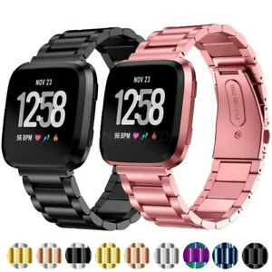 For Fitbit Versa 2 Strap Stainless Steel Watch Band
