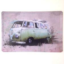 Retrò Parete IN METALLO SIGN TIN Placca Vintage T1 Bay v-dub GARAGE VW Splitty Camper