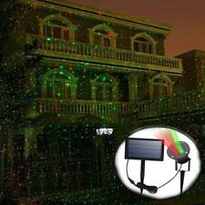 UK Outdoor Solar Landscape Laser Projector Lamp Xmas Party Garden Sky Star Light