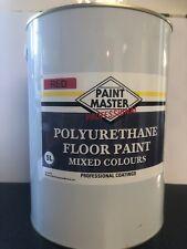 RED POLYURETHANE GARAGE/WORKSHOP FLOOR PAINT 5 LT