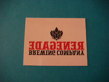 Beer Temporary Tattoo Sticker ~**~ RENEGADE Brewing Company ~*~ Denver, COLORADO