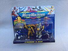 Vintage 90s  Original Power Ranger Micro Machines Dragonzord v Goldar action set