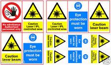 CAUTION LASER BEAM - IPL - laser tattoo removal Warning sticker Q SWITCH YAG
