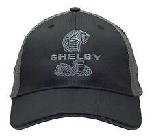 Shelby Super Snake Cobra Logo Black/ Gray Combo Mesh Hat Ford Mustang GT500 SVT