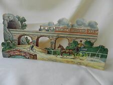 Railroad Ephemera, Railroad Memorabilia, 3D Cut-out Railroad Scene, Railway Play