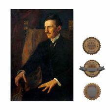 "13""×19"" Historic Art Portrait Reprint Poster: Nikola Tesla Electricity History"