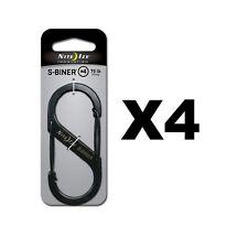Nite Ize S-Biner Stainless Steel #4 Black Dual-Gated Carabiner Tool 75lb(4-Pack)