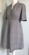 ISABELLA OLIVER Black White Geometric Print Maternity Dress Sz 2 UK 10 Lightwt