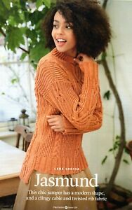 ~ Pull-Out Knitting Pattern For Lady's Turtleneck Cable & Twisted Rib Sweater ~