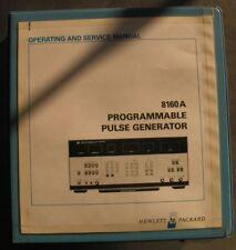 HP 8160A PROGRAMMABLE PULSE GENERATOR OPERATING MANUAL