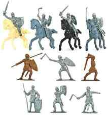 Jecsan - 20 El Cid Figures in 10 poses - no horses - unpainted 60mm plastic