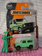 2018 MATCHBOX #118 LAND ROVER 90☆Green; 65th ; hitch☆MBX OFF ROAD☆